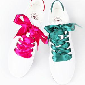 b18e567df3d8 China Quality 2cm Satin Ribbon Shoelaces - China Ribbon Shoelaces ...