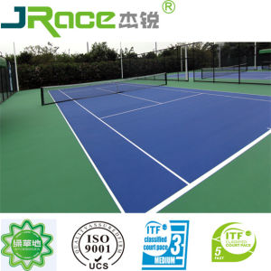 China Synthetic Silicon Pu Itf Tennis Court Flooring China Spu
