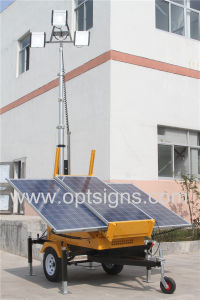 Heavy Duty Hydraulic Lifting Construction LED Solar Mobile Light Tower pictures & photos