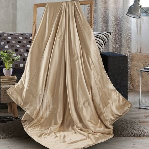 100% Silk Cover and Silk Filled Throw Blanket pictures & photos