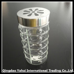 1550ml Clear Glass Storage Jar with Meatl Lid pictures & photos