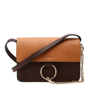 1ae1be42af52 China 2016 Aitbags Vintage Brown Series Contrast Color Crossbody Bag ...