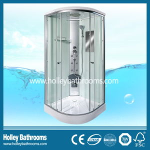 New Design Multifunctional Shower Cabin with Double Roller Wheel and Mirror (SR111W)
