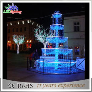 Christmas Commercial Decorations.Christmas Commercial Street Decorations 3d Fountain Motif Light