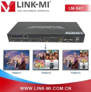 Lm-S41 Support Seamless Switcher HDMI Switch 4 by 1 Multiplexer Quad Video  Multiviewer with RS232 & IR