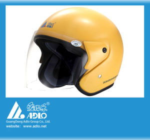 Adlo Yellow Open Face Motorcycle Helmet (05Y)
