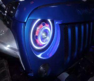 Jeep Wrangler Led Headlights >> Jeep Wrangler Jk 07 17 Led Headlights Rgb Round Demon Eye Headlamp