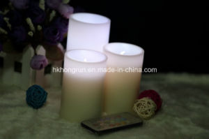 Colour Changing LED Candle with Remote in Mini Size (HR3223C)