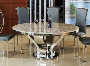 China Good Price Marble Round Dining Table For Home Sdt 009