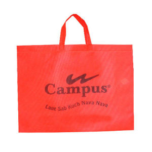 Non-Woven Tote Bag with Red Color pictures & photos