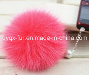 Natural Colors Real Raccoon Fur Keychain/Ball