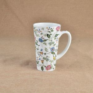 china decal ceramic customized v shape mug with high quality china