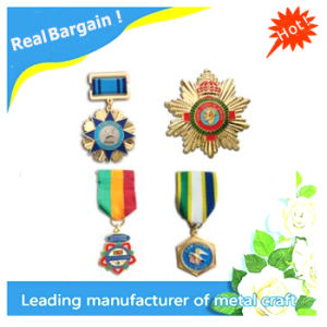 Stock Available Personalized Metal Medal with Ribbon