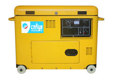 Fy6500 Professional Diesel Silent Generator with Wheel