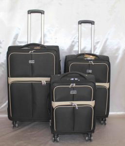 1680d Trolley Case Set of 3 Black Color pictures & photos