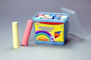 15PCS 9.7cm Sidewalk Chalk with PP Square Bucket pictures & photos