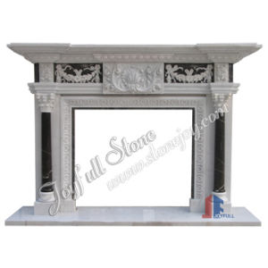 White Marble Stone Fireplace (FC-418)