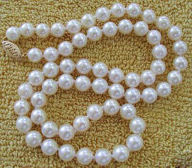 8-9mm Round Natural Freshwater Cultured Pearl Necklace Jewelry pictures & photos