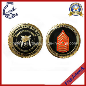 Military Coin with Domed Epoxy Coating