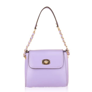 New Purple PU Leather Long Shoulder Strap Sling Bag (XD140055)