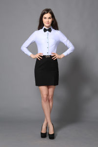 Lady Office Long Sleeve Formal Office Wear Shirt--Md1a8442 pictures & photos