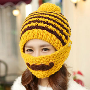 Fashion Mask Beard Handmade Knitting Knitted Hat pictures & photos