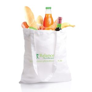 Large Eco-Reusable Canvas Bag with White Color pictures & photos