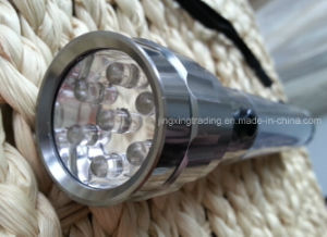 7LED Popular Aviation Aluminum Alloy Solar Flashlight (JX-SF009-1) pictures & photos