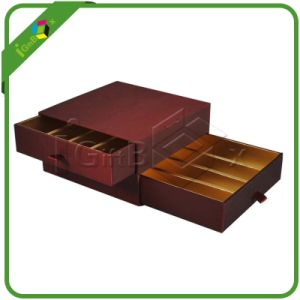 Sliding Paper Chocolate Drawer Box with 2 Layers pictures & photos