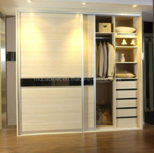 Superieur Wardrobe Closet Wood Sliding Door (SD 24)