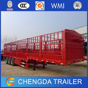 3 Axles Fence Cargo Trailer/ 50ton Livestock Transport Fence Trailer pictures & photos