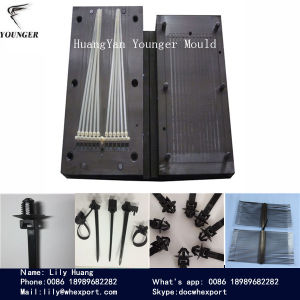 662a345fd570 Plastic Fir Tree Push Mount Lateral Toothed Nylon Cable Tie Injection Mould  Molds Used for Auto Car Automobile Automotive Wiring Accessories Parts  Component