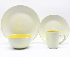 Lovely Italy Design Yellow Color 12PCS Ceramic Stoneware Dinnerware Set & China Lovely Italy Design Yellow Color 12PCS Ceramic Stoneware ...