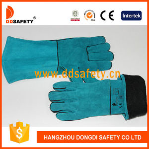 Best Selling Blue Cow Split Leather Working Gloves