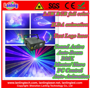 2.5W Stage Laser Animation Disco Lighting Projector pictures & photos