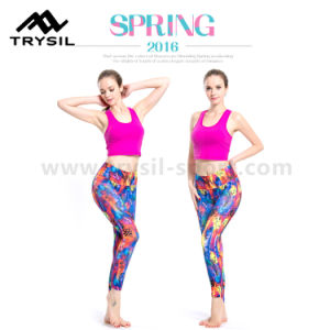2017 Fashionable Women Fitness Wear Hot Selling Yoga Wear Compression Leggings High Elastic Quick Drying Pants Slim Runing Clothes