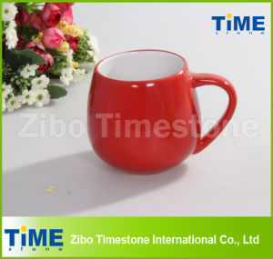 12oz Red Color Stoneware Coffee Mug pictures & photos