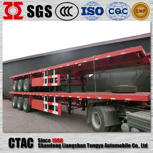 Factory Direct 3 Axle Flatbed Semi Trailer for Sale pictures & photos