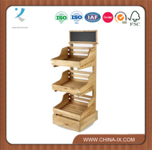 3 Tier Wooden Display Stand With 4 Shelves
