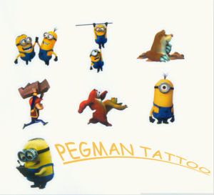 Mini Yellow Man Tattoo Chewing Gum pictures & photos