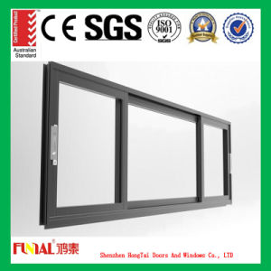 Aluminum Alloy Frame Sliding Window with Double Tempered Glass