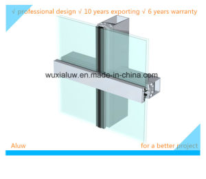 Colorful Glass Semi-Visible Curtain Wall