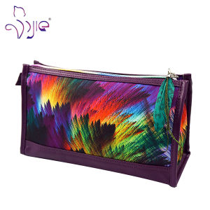 Rectangle Shaped Painting Pattern Cute Cosmetic Beauty Bag