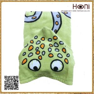 Printed Hooded Cute Kids Poncho