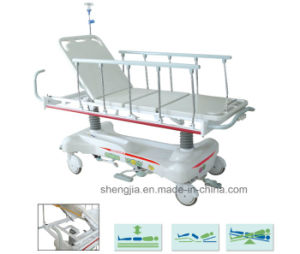 Sjm010 New Style Luxurious Hydraulic Rise-and-Fall Stretcher Cart