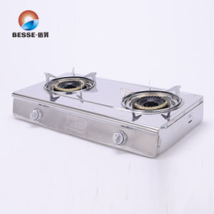 Stainless Steel Gas Burner, Two Burners, Big Blue Fire pictures & photos