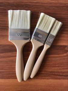 White Bristle Paint Brush with Plastic Handle