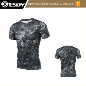 Tactical Sports 4 Colors Breathable Camouflage Hunting T-Shirts pictures & photos