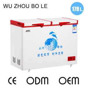 Environmentally-Friendly Design Top Open Double Doors Chest Freezer