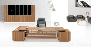 Modern Office Executive Desk with Side Table and Cabinet pictures & photos